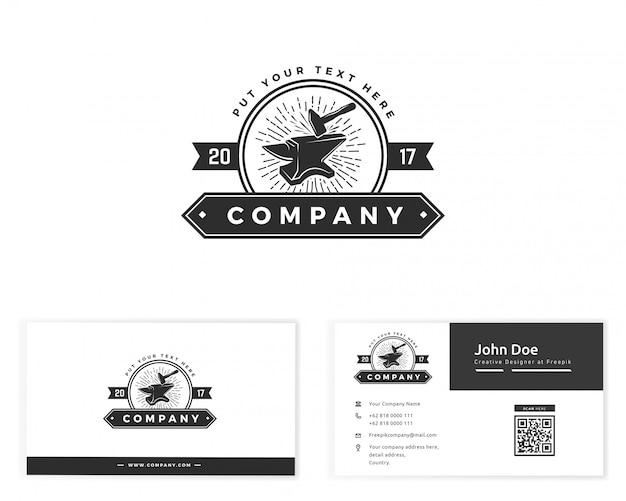 Смит логотип с визитной карточкой