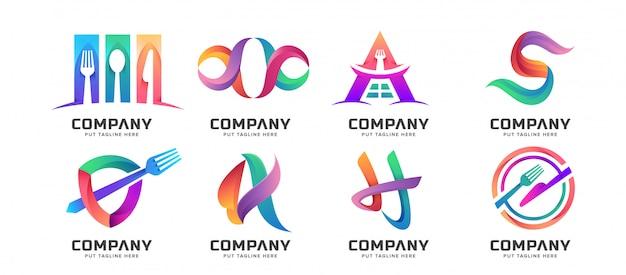 バンドルの抽象的なロゴのコレクション