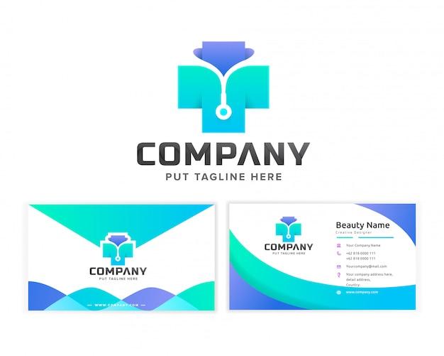 Медицинский госпиталь логотип шаблон для компании