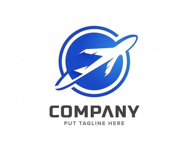 Шаблон логотипа креативного самолета