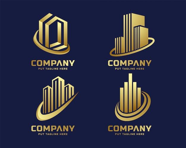 Современный бизнес золотой логотип шаблон