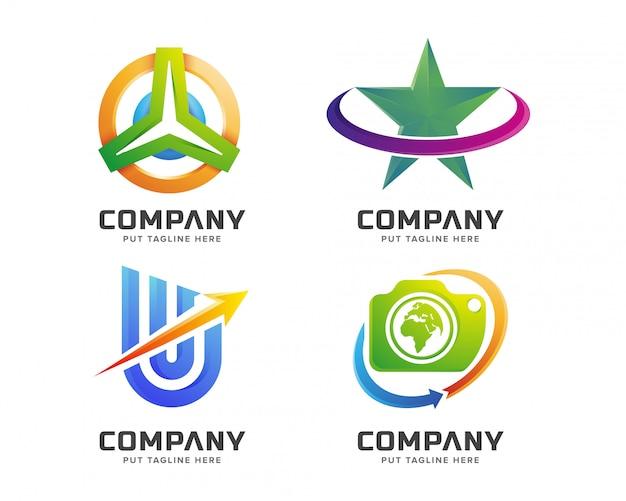 クリエイティブビジネスのカラフルなロゴのテンプレート