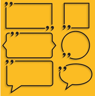 Абстрактная рамка для цитат на желтом