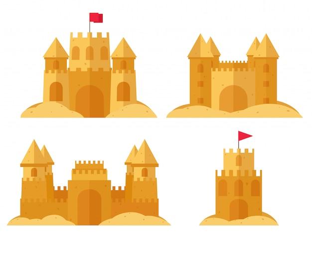 ビーチの砂の城を設定します。