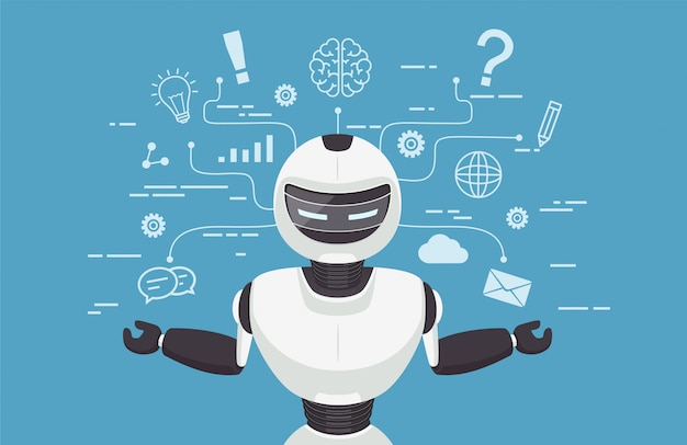 Чат бот, робот виртуальная помощь.