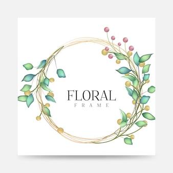 花と花のフレーム