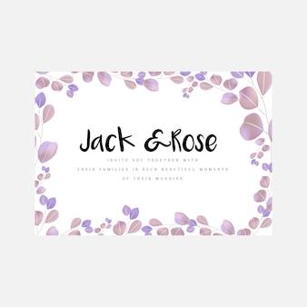 美しいシンプルな結婚式の招待カード