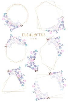 美しく配置されたエレガントな花の幾何学的なフレーム