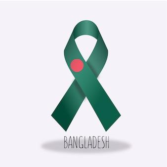 バングラデシュの旗のリボンデザイン