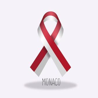 Дизайн ленты флага монако