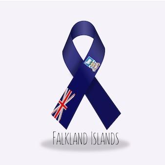 フォークランド島のフラグのリボンデザイン