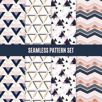 シームレスな幾何学的スカンジナビアパターンセット