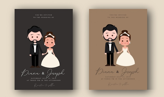 キャラクターの結婚式の招待