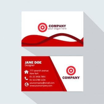 Красная визитная карточка