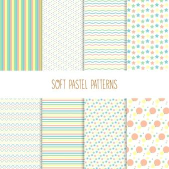 柔らかいパステルカラーのパターン