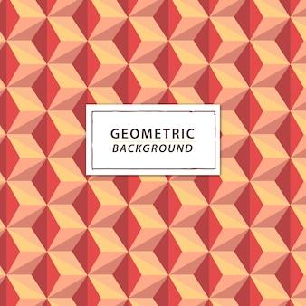 コーラルトーンの抽象的な幾何学的な背景