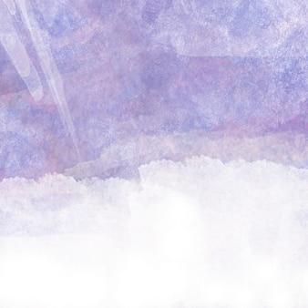テキスト用の空白と紫の水彩画