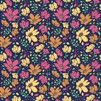 かなり頭が変な花のシームレスな編集可能なパターン