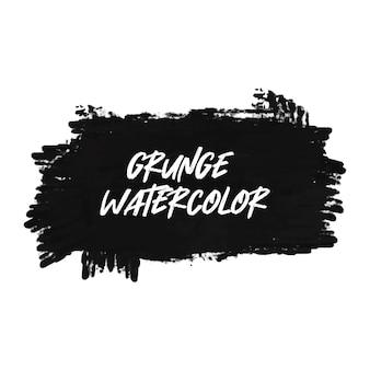 グランジ黒水彩バナー
