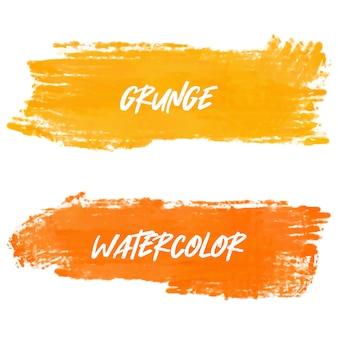 オレンジ色の水彩バナー
