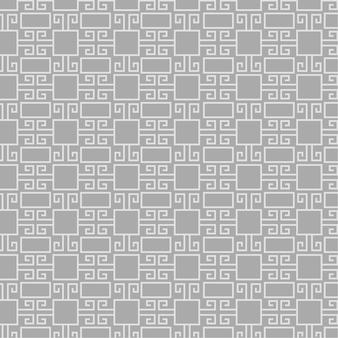 幾何学的な線のスタイルで古代ギリシャのパターン