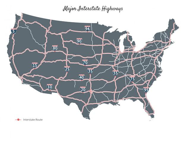 Основные межгосударственные шоссе