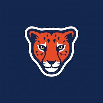 Логотип гепарда потрясающее вдохновение