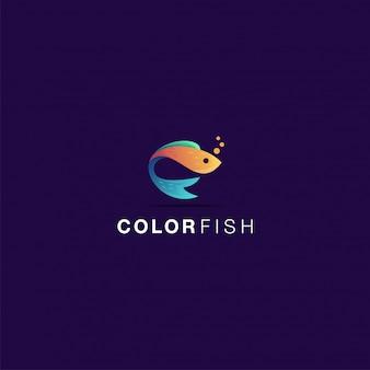 色の魚のロゴ素晴らしいインスピレーション