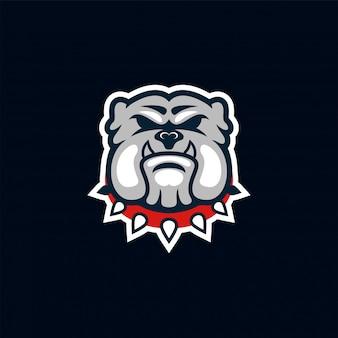 Логотип собаки быка потрясающее вдохновение
