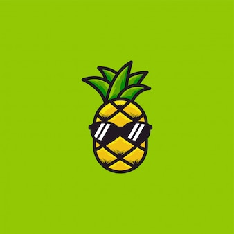 Ананас логотип дизайн вдохновение офигенно