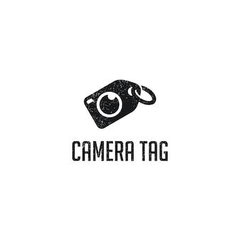カメラタグのロゴのテンプレートデザイン