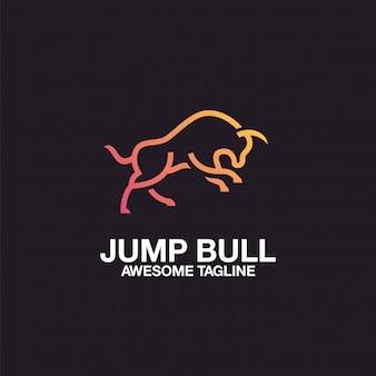 Дизайн логотипа прыжка быка