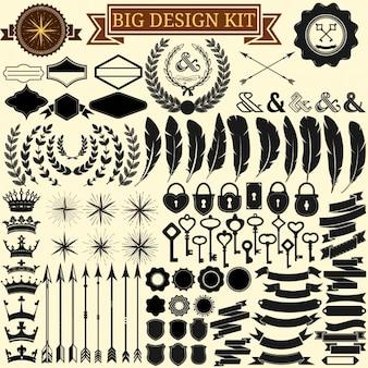 Коллекция элементы дизайна