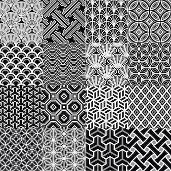 日本の幾何学的なシームレスなパタン
