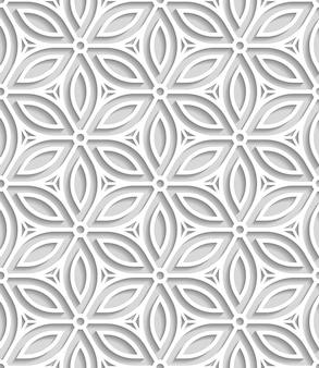 紙から切り落とされた日本のシームレスなパターン
