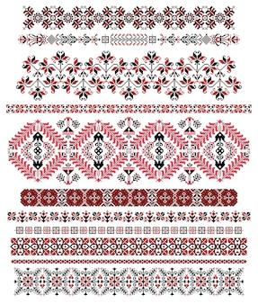 ハンガリーのピクセルパターンの罫線