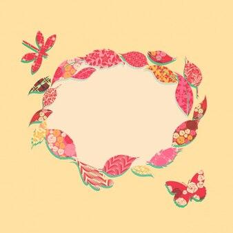 葉からなるフレーム