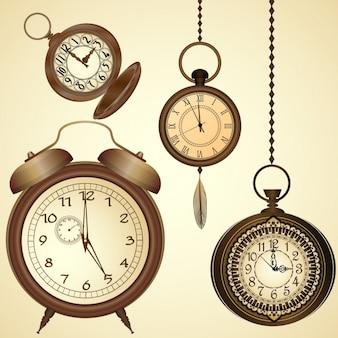 時計の背景デザイン
