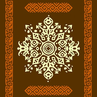 Африканский стиль круг орнамент или мандала