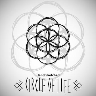 神聖な幾何学図面と抽象的な背景テンプレート