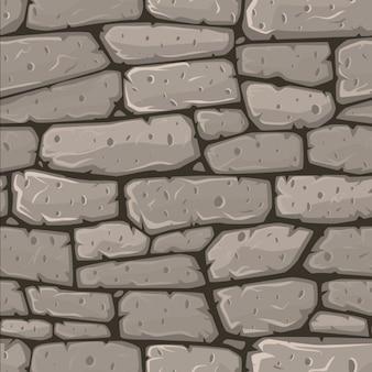 Бесшовные мультфильм камень текстуры вектор