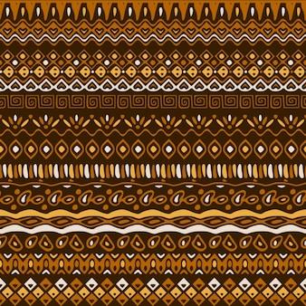 茶色の色調の民族パターン