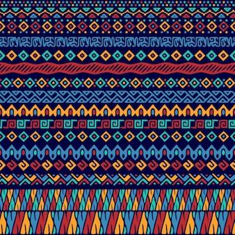 抽象的な形の民族パターン