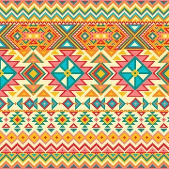 幾何学的なパターンを持つファブリックテクスチャ