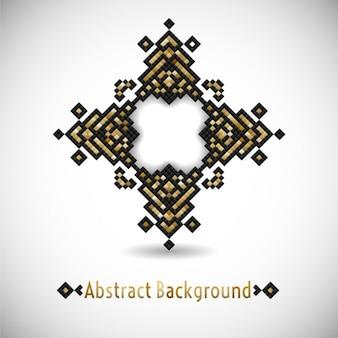 Геометрическая битнику племенных черный и золотой пиксель дизайн