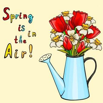 春の背景デザイン
