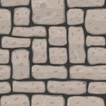 シームレスな漫画の石のテクスチャベクトル図