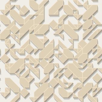 シームレスな形状ボリュームパターンベクトル図