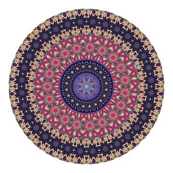 Цветочная мандала для раскраски. черно-белый этнический рисунок хны.