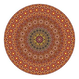Цветочная мандала для раскраски.